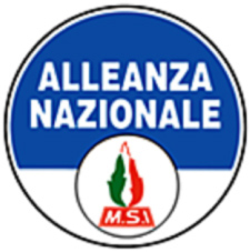 Figure 6 : Logo d'Alleanza nazionale, 1995. Sources : https://fr.wikipedia.org/wiki/Alliance_nationale_(Italie)#/media/File:Alliance_nationale_logo.png © Droits réservés.